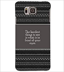 PrintDhaba Quote D-4676 Back Case Cover for SAMSUNG GALAXY ALPHA (Multi-Coloured)