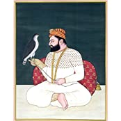 Exotic India Guru Har Gobind - Water Color Painting On Paper - Artist Kailash Raj