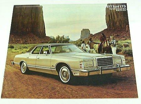 1977 77 Ford Ltd Brochure Hardtop Pillared Landau front-455310