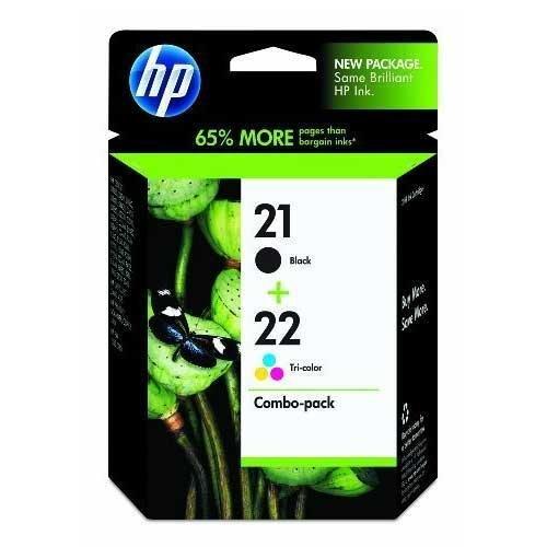 HP 21/22 (C9509FN, C9509FN#140) Combo Pack OEM Genuine Inkjet/Ink Cartridges (Black C9351AN+ Tri-Color C9352AN)*1 - Retail