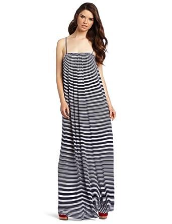 Rachel Pally Women's Rib Quinn Dress, Navy Stripe, X-Small