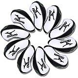 Mizuno Golf Iron head Covers 10pcs/set white & black MT/Mz01