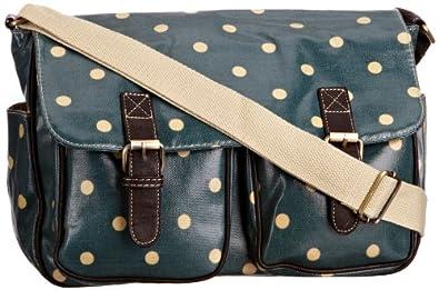 SwankySwans Women's Jasper Polka Dot Laminate Summer Crossbody Bag With Double Pockets In Green 5055360142247 Large