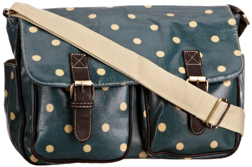 SwankySwans Women's Jasper Polka Dot Laminate Summer Satchel