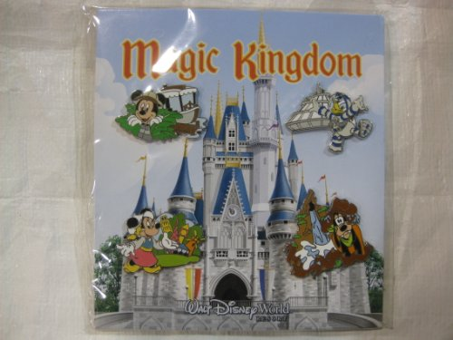 4 Piece Disney Pin Collector Series Set Magic Kingdom Set 2009