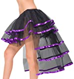 Burlesque Tutu with Long Train Fancy Dress Woman Costume