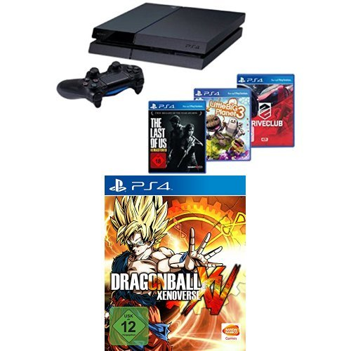 PlayStation 4 - Konsole + DriveClub + Little Big Planet 3 + The Last of Us: Remastered + Dragonball Xenoverse