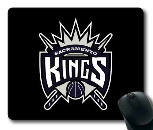 Sacramento-Kings-on-Black-Rectangle-Mouse-Pad-by-eeMuse