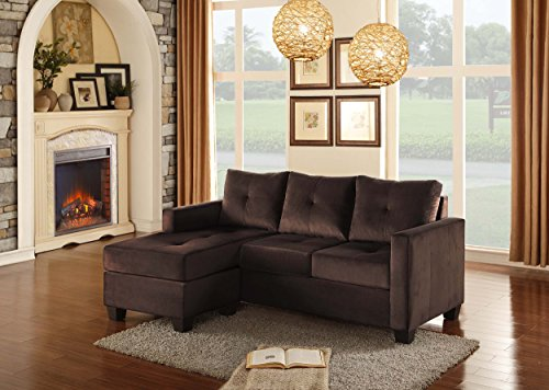 Homelegancer Sofa Chaise with Tufted Accent