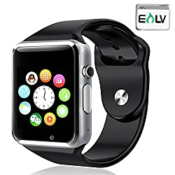 Smart Watch, E LV High Quality Touch Screen Bluetooth Smart Wrist Watch with Camera For Apple iPhone IOS, Android Smartphones Samsung,HTC,Blackberry and more - BLACK
