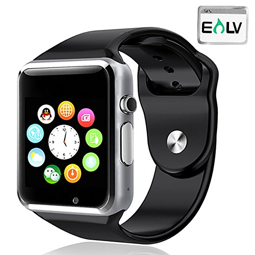 Elv Smart Watch, E LV High Quality Touch Screen Bluetooth Smart Wrist Watch with Camera For Apple iPhone IOS, Android Smartphones Samsung,HTC,Blackberry and more BLACK