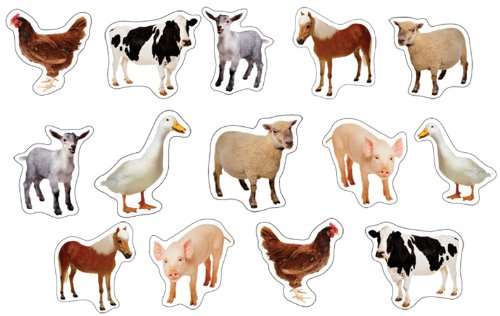 Carson Dellosa Farm Animals: Photographic Shape Stickers (168013)