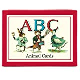 Cavallini ABC Animal Cards, 26 Sturdy Flash Cards Packaged in a Decorative Box