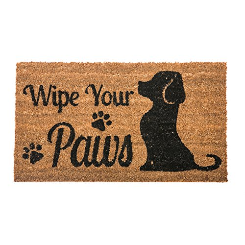 ... Wipe Your Paws Dog Welcome Coir Door Mat