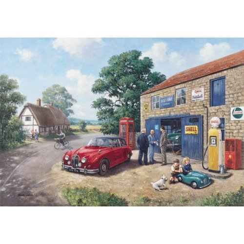 Bridge Garage Mk.II - Jaguar car (birthday card)