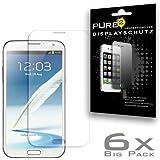 Pure² 6x Displayschutzfolie klar für Samsung N7100 Galaxy Note 2 kratzfestest. 6x Schutzfolie im BIG PACK