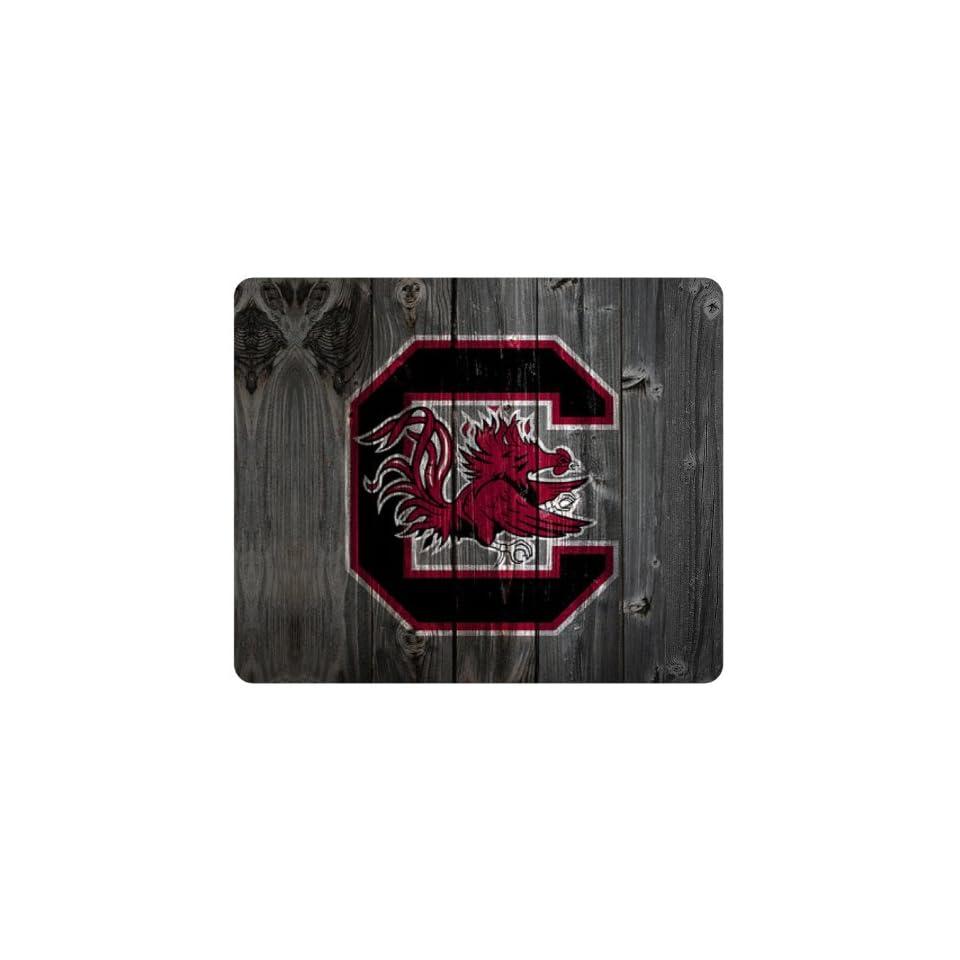 Nicase South Carolina Gamecocks Wood Background Theme Mousepad, Customized Rectangular Mouse Pad