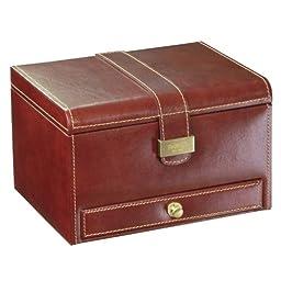 *** 22% OFF *** Dulwich Designs mens accessories | chestnut brown & tan heritage medium watch box