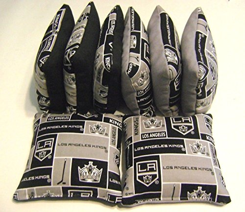 Los Angeles La Kings Cornhole Bean Bags Set of 8 Top Qualtiy Nhl Regulation Bags (Nhl Corn Hole Bags compare prices)