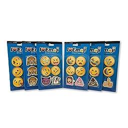 Emoji Erasers: Smile, Poo, Monkey, Woman, More: 36 Total Erasers