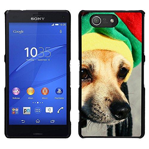 BearCase / Stark Shell-Kunststoff-Gehäuse-Schutzhülle /// Sony Xperia Z3 Compact /// Rasta Mütze Dog Chihuahua Muzzle Schnauze