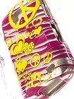 Shockwize (Tm) Imago Series Samsung Galaxy Proclaim S720C & Samsung Illusion i110 Design Art Artwork Skin Shell Protector Case Shock Absorbing Rigid Hybrid (Straight Talk, Verizon) S720C i110 (Design Animal Zebra Yellow / Pink Peace)