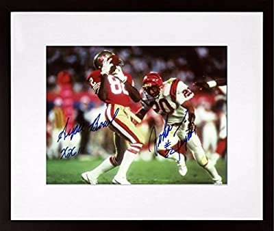 SF 49ers John Taylor Autographed SB XXIII 8x10 Photograph w/ Inscription (SGA UnderFifty Series) Framed (COA)
