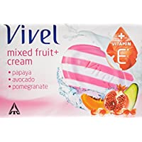 Vivel Mixed Fruit And Cream Soap, 100g (Pack Of 4)