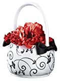 Black & White Flower Basket