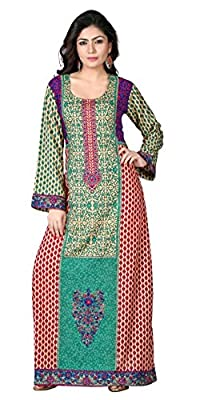 TrendyFashionMall Women's Printed Cotton Kaftans Abayas Multiple Styles & Colors
