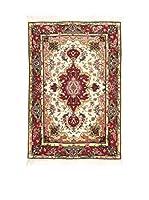 Eden Carpets Alfombra Tabriz Rojo/Multicolor 90 x 60 cm