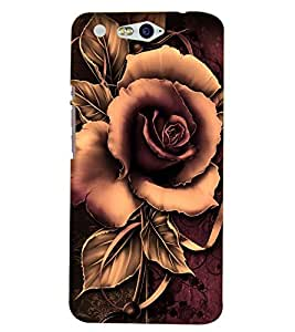 Fuson Premium Artistic Rose Printed Hard Plastic Back Case Cover for INFOCUS M812