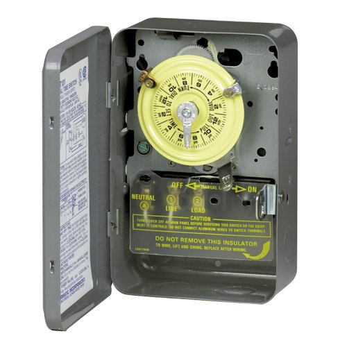 Intermatic T104 208-277-Volt Dpst 24 Hour Mechanical Time Switch front-250259
