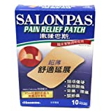 Salonpas Ultra Thin Pain Relief Patch Pack of 10 Made in Japan