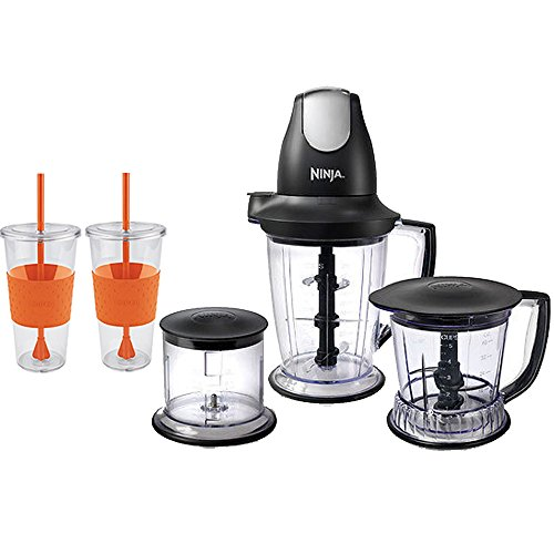 Ninja Master Prep Pro Food & Drink Mixer, Black With 2 x Copco Eco First Tumbler 24 Ounce Togo Cup Mug - Orange (Ninja Mixer Pitcher compare prices)