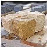 GA STONE 天然砂岩ピンコロ イエローサンド 1丁 9×9×9cm (60個セット) (黄砂岩)