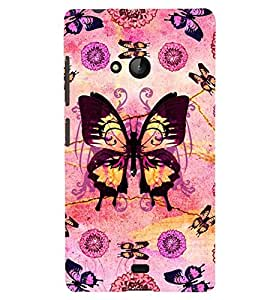 Printvisa Assorted Butterfly Pattern Back Case Cover for Lumia Lumia 540::Microsoft Lumia 540