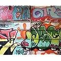 JP London MD3A067 8.5-Feet High by 10.5-Feet Wide Removable Full Wall Graffiti Mural