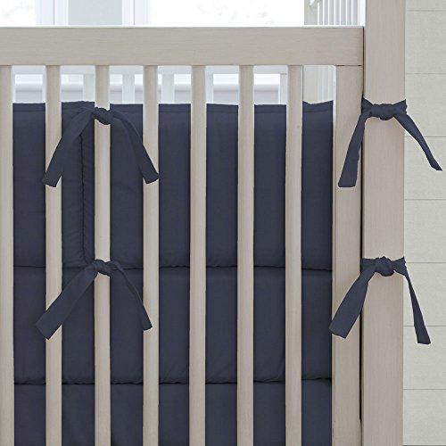Carousel Designs Solid Navy Crib Bumper (Carousel Crib Bumper compare prices)