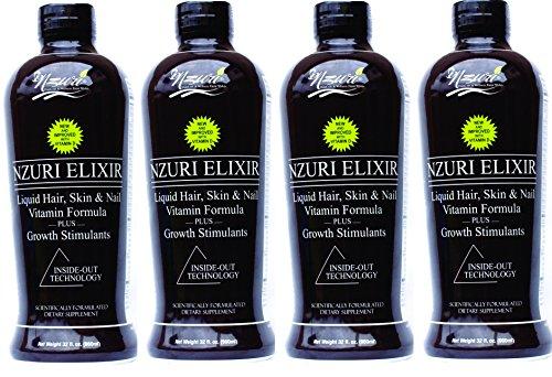 4-32 Oz Bottles - Nzuri Elixir - Liquid Hair Vitamin Plus Growth Stimulants