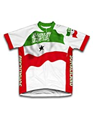 Somaliland Flag Short Sleeve Cycling Jersey for Women