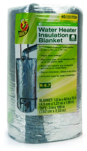 Duck Brand 280464 Water Heater Insulation Blanket, 48 By 75 By 1.8-Inch