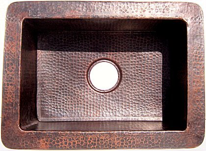 Hammered Flat Copper Kitchen Sink II