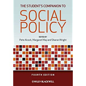 Image: Cover of The Student's Companion to Social Policy