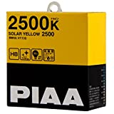 PIAA ( ピア ) ハロゲンバルブ 【ソーラーイエロー 2500K】 H8 12V35W 2個入り HY108