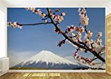 Japan Mount Fuji & Cherry Blossom Wallpaper Mural