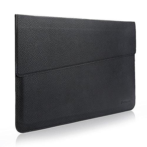 MacBook 13.3 Sleeve, Evecase Sottile in Pelle Premium Custodia Portatile per 13.3 pollici MacBook Air/MacBook Pro/Retina/iPad Pro - Nero