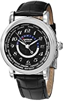 Montblanc Star World Time Black Dial Black Leather Mens Watch 109285 from Montblanc