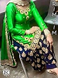 Shree Fashion Woman's Banglory With Dupatta [Shree (51)_Green]