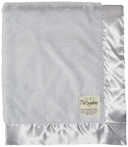 "My Blankee Luxe Baby Blanket, 30"" x 35"", Silver"